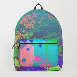 Abstract Urban Painting - Aquarium & Seabed Backpack