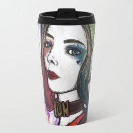 Nail Polish Paintng Of Harley Quinn Travel Mug
