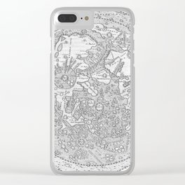 Hevelius' Selenographia - Map of the Moon 1647 Clear iPhone Case