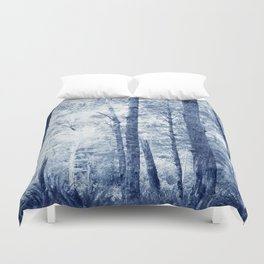 Blue Birch Forest Duvet Cover