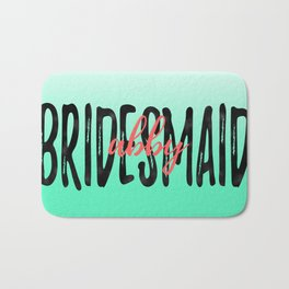 Mint Ombre Bridesmaid Bath Mat