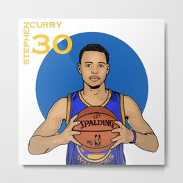 Steph Curry 30 Metal Print