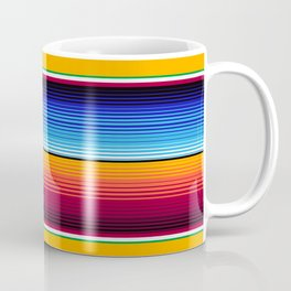 Traditional Mexican Serape in Yellow Multi Coffee Mug