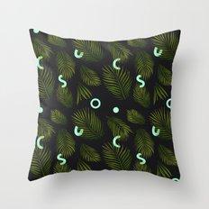 Tropical Neon Throw Pillow