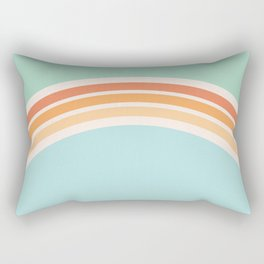 one day – mint, blue and peach Rectangular Pillow