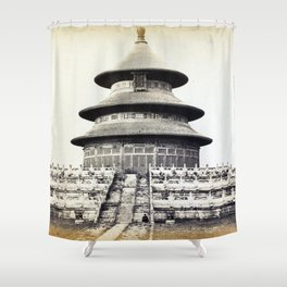 Sacred Temple of Heaven Where the Emperor Sacrifices Once a Year in the Chinese City of Pekin 1860 Shower Curtain
