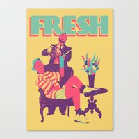 fresh prince Canvas Prints featuring FRESH by UCArts