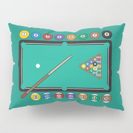 Billiards Table and Equipment Pillow Sham
