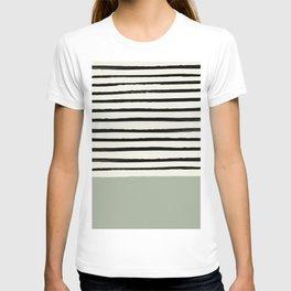 Sage Green x Stripes T-shirt
