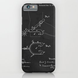 1887 Horseman Spurs Patent iPhone Case