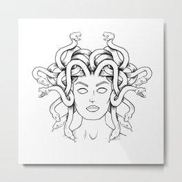 Medusa sketch Metal Print