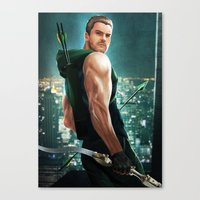 arrow Canvas Prints featuring Arrow by Meder Taab