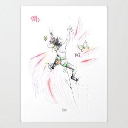 Vertical Virgo Art Print