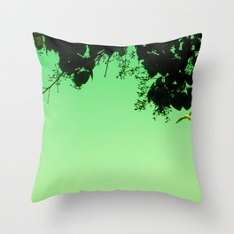 Flying Seagull Throw Pillow