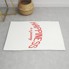 Happiness is a Journey - Mindfulness and Positivity Rug