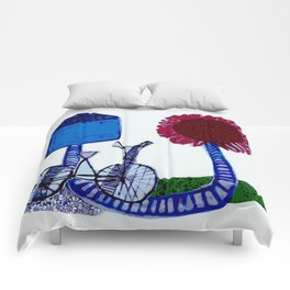 Bicycle and flower Comforters