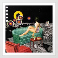 northern lights Art Prints featuring Northern Lights by Eugenia Loli