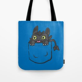 Pocket Toothless Tote Bag