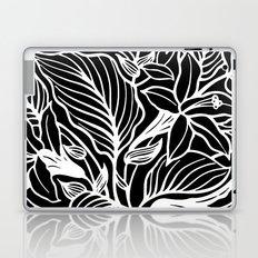 Black White Floral Laptop & iPad Skin