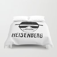 heisenberg Duvet Covers featuring Heisenberg by WaXaVeJu