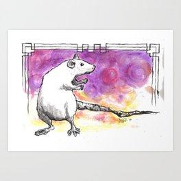 Rattie Art Print