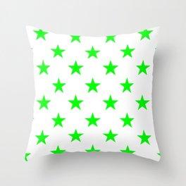 Stars (Green/White) Throw Pillow
