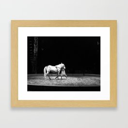 Circus Horse & Trainer Framed Art Print