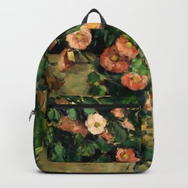 """Paul Cezanne """"Quiet life with Petunien"""" Backpack"""