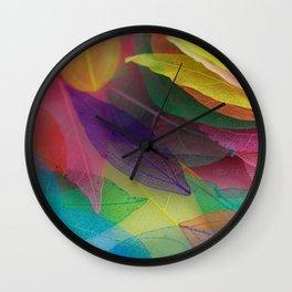Skeleton leaves Wall Clock