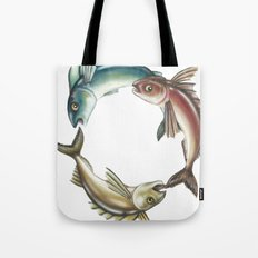 Circle of Fish Tote Bag