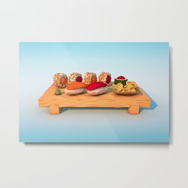Jiro and Friends Metal Print