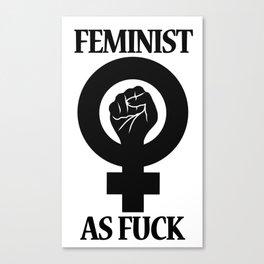 Feminist As Fuck Symbol Canvas Print