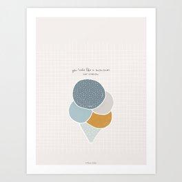 You taste like a summer ice-cream Art Print