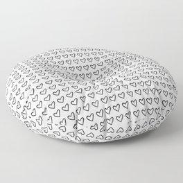 Heart Ink Pattern Floor Pillow