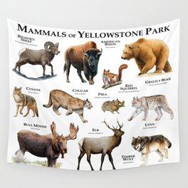 Mammals of Yellowstone Park Wall Tapestry