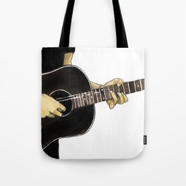 Guitar Playing Man Tote Bag