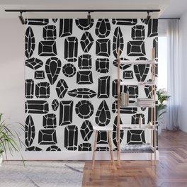 gemstone black and white Wall Mural