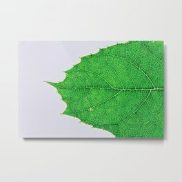 The Power of Green Metal Print