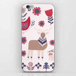 Scandinavian Winter Pattern Beige #society6 #buyart iPhone Skin