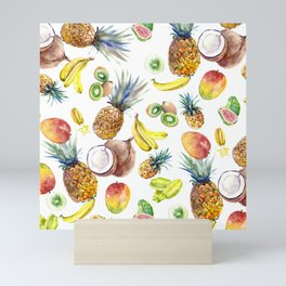 Tropical Fruits, Pina Colada, Fruit Punch tropical design Mini Art Print