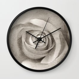 Antique Rose Wall Clock