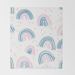 Rainbow Chroma Pastel Throw Blanket