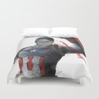 captain silva Duvet Covers featuring Captain by Alba Palacio