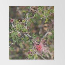 Desert Wildflower Bush Throw Blanket