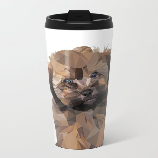 Cocoa, the puppy Metal Travel Mug