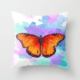 Sunset Fireflies Throw Pillow