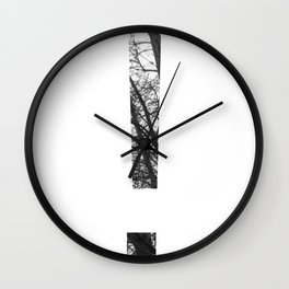Minimal Letter Exclamation Mark Print With Photography Background Wall Clock