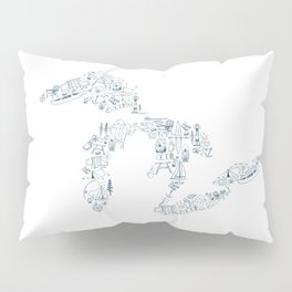 Great Lakes Up North Collage Pillow Sham