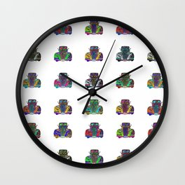 CAR COLLECTION WHITE Wall Clock