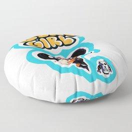 Lung Girl 2 Floor Pillow